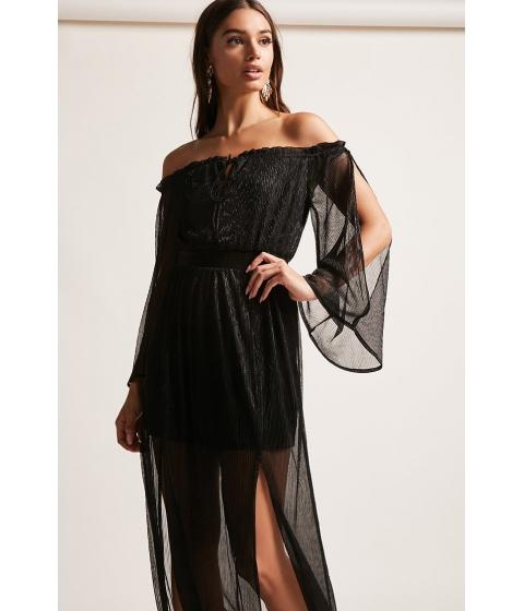 Imbracaminte Femei Forever21 Pleated M-Slit Maxi Dress BLACK