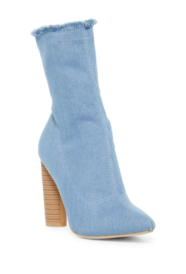 Incaltaminte Femei Elegant Footwear Chelsia Pointed Toe Boot BLUE DENIM