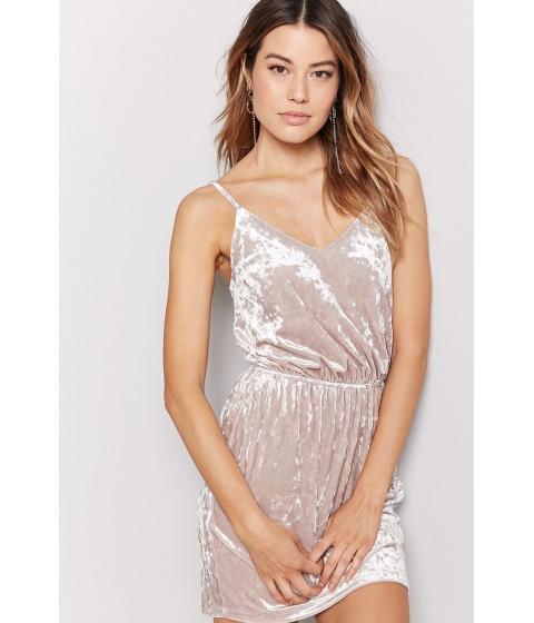Imbracaminte Femei Forever21 Crushed Velvet Cami Dress TAN