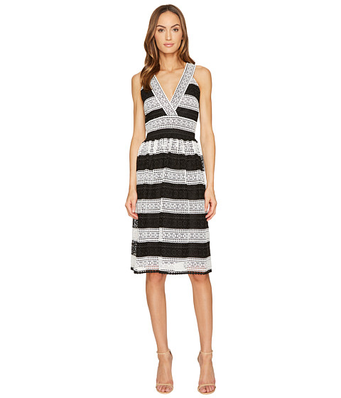 Imbracaminte Femei Kate Spade New York Color Block Lace Dress BlackCream