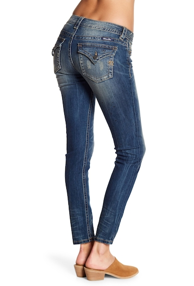 Imbracaminte Femei Miss Me Stained Mid Rise Skinny Jeans MED BLU