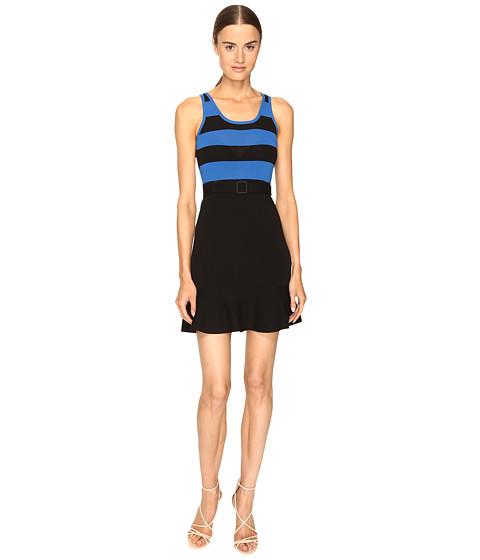 Imbracaminte Femei Boutique Moschino Striped Top Belted Dress BlackBlue