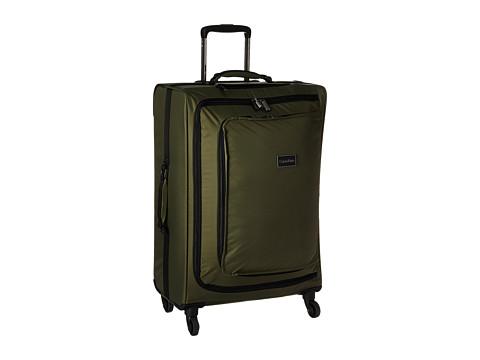 Genti Femei Calvin Klein Flatiron 24quot Upright Suitcase Army Green