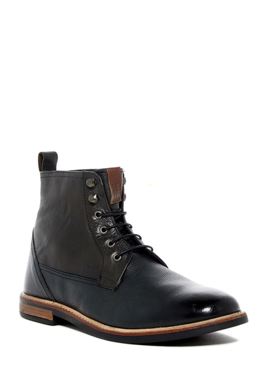 Incaltaminte Barbati Ben Sherman Brent Plain Toe Boot BLACK