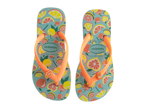 Incaltaminte Fete Havaianas Fun Flip Flops (Little KidBig Kid) BlueOrange