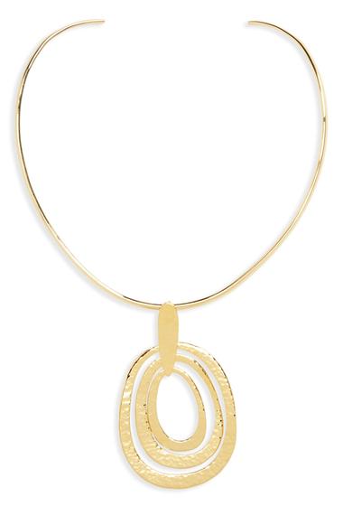 Bijuterii Femei Argento Vivo Pendant Collar Necklace GOLD