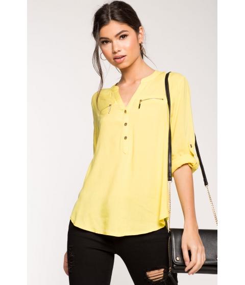 Imbracaminte Femei CheapChic Gina Challis Zipper Shirt Yellow