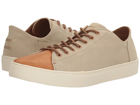Incaltaminte Barbati TOMS Lenox Sneaker Desert Taupe Washed CanvasLeather
