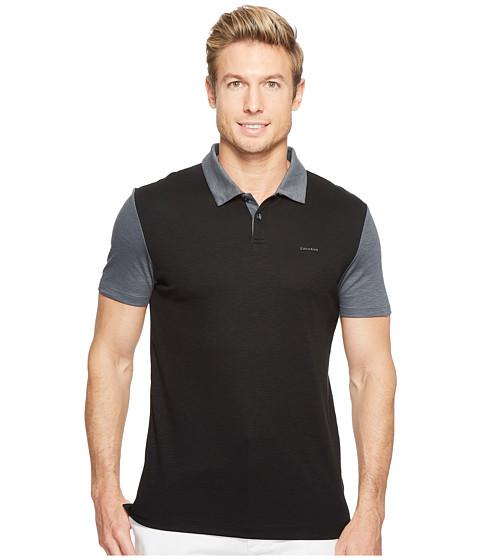 Imbracaminte Barbati Calvin Klein Color Block Lyocel Polo Shirt Black