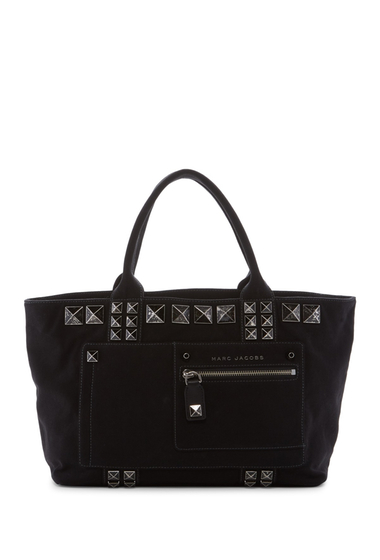 Genti Femei Marc Jacobs Canvas Chipped Studs Tote BLACK