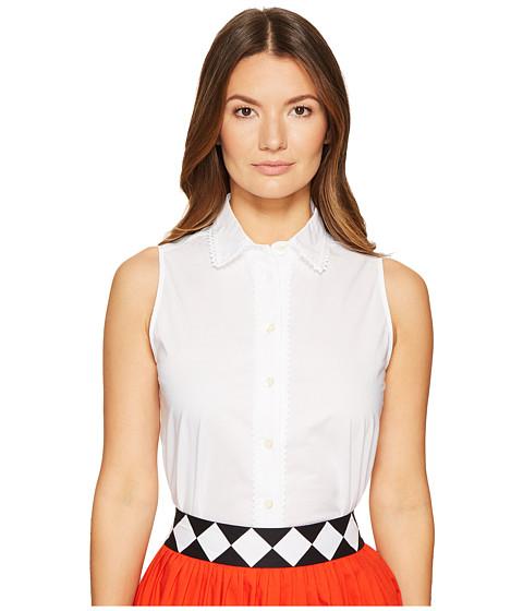 Imbracaminte Femei Kate Spade New York Lace Inset Sleeveless Top Fresh White