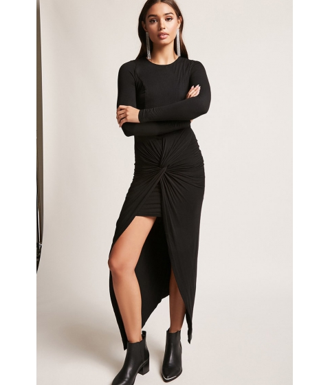 Imbracaminte Femei Forever21 Twist-Front Tulip Dress BLACK