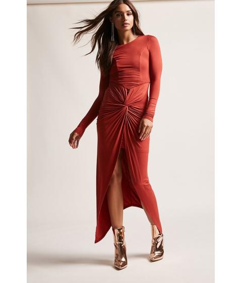 Imbracaminte Femei Forever21 Twist-Front Tulip Dress BRICK