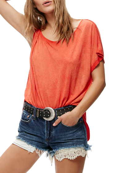 Imbracaminte Femei Free People Pluto One-Shoulder Tee RED