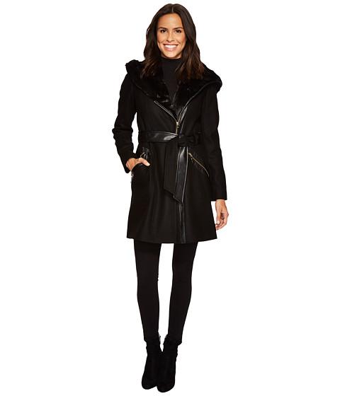Imbracaminte Femei Via Spiga Mix Media Wool Belted Black