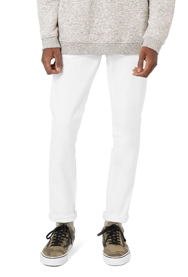 Imbracaminte Barbati TOPMAN Stretch Skinny Fit Chinos WHITE