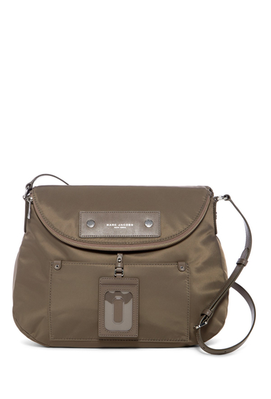 Genti Femei Marc Jacobs Preppy Nylon Sasha Crossbody Bag QUARTZ GREY
