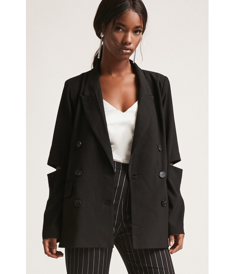 Imbracaminte Femei Forever21 Double Breasted Cutout Blazer BLACK