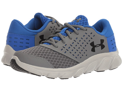 Incaltaminte Baieti Under Armour UA Rave Run (Little Kid) GraphiteUltra BlueMetallic Silver
