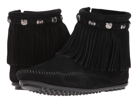 Incaltaminte Femei Minnetonka Hello Kitty Fringe Boot Black