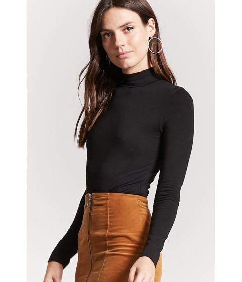 Imbracaminte Femei Forever21 Jersey Knit Mock Neck Top BLACK