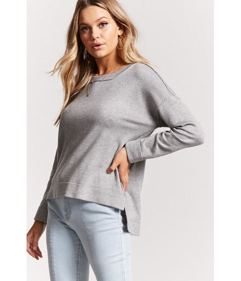 Imbracaminte Femei Forever21 High-Low Sweater Knit Top HEATHER GREY
