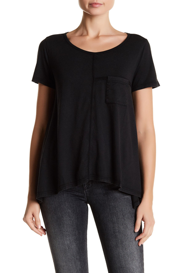 Imbracaminte Femei Melrose and Market Short Sleeve Seam Detail Pocket Tee Regular Petite BLACK