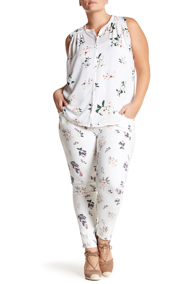 Imbracaminte Femei Lucky Brand Ginger Floral Print Skinny Jeans Plus Size BOTANICAL TOSS