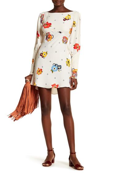Imbracaminte Femei Free People Long Sleeve Floral Print Dress NEUTRAL