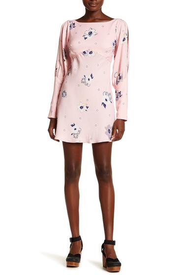 Imbracaminte Femei Free People Long Sleeve Floral Print Dress PINK COMBO