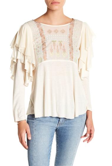 Imbracaminte Femei Free People La Cienega Front Embroidery Blouse IVORY