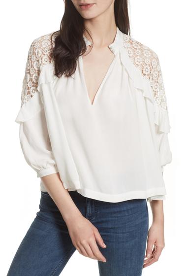 Imbracaminte Femei Free People Long Sleeve Knit Shoulder Blouse WHITE