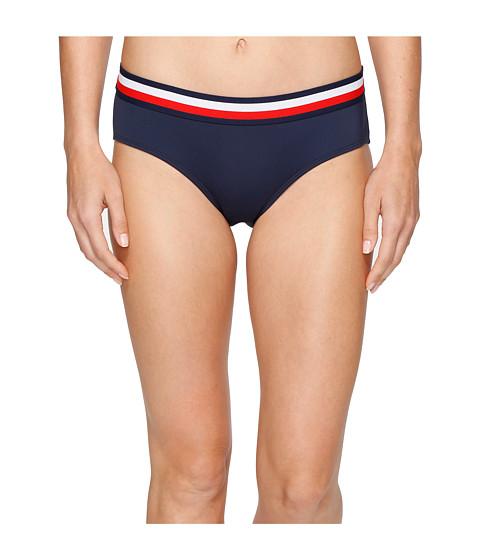 Imbracaminte Femei Tommy Hilfiger Signature Stripe Elastic Hipster Bikini Bottom Core Navy