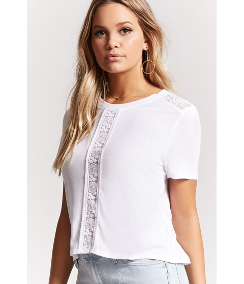 Imbracaminte Femei Forever21 Lace Paneled Top IVORY