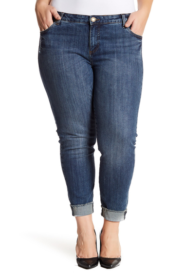 Imbracaminte Femei KUT from the Kloth Amy Distressed Straight Leg Ankle Jeans Plus Size VALUED W-DK STO