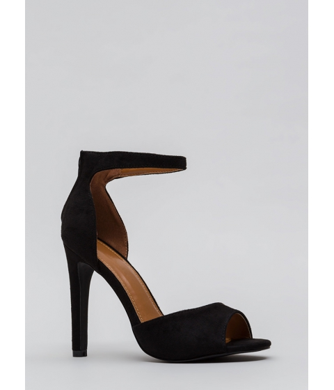 Incaltaminte Femei CheapChic Carve Out Some Time Faux Suede Heels Black
