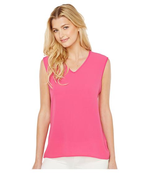 Imbracaminte Femei Vince Camuto Extend Shoulder V-Neck Mix Media Textured Top Festive Pink