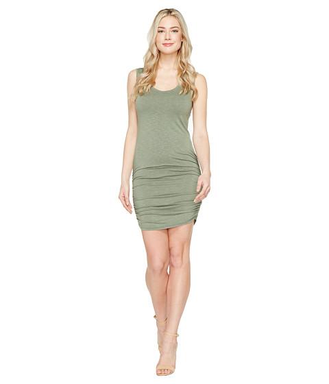 Imbracaminte Femei Michael Stars Mavie Slub Jersey Tank Dress w Shirring Olive Moss
