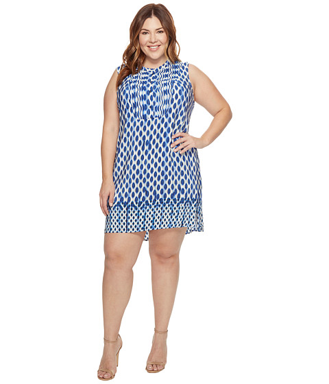 Imbracaminte Femei NICZOE Plus Size Falling Dots Tunic Dress Multi
