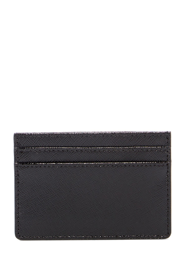 Genti Femei Halogen Leather Cardholder BLACK