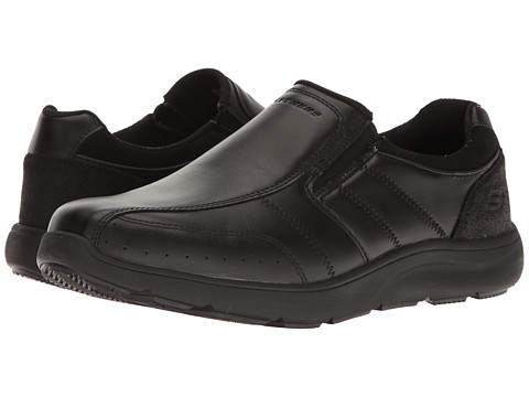 Incaltaminte Barbati SKECHERS Relaxed Fit Montego - Alvaro Black Leather