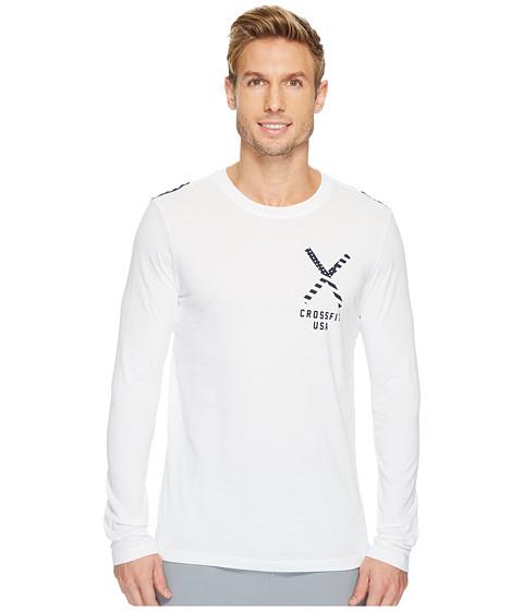 Imbracaminte Barbati Reebok CrossFitreg Patriotic Long Sleeve Tee - USA White