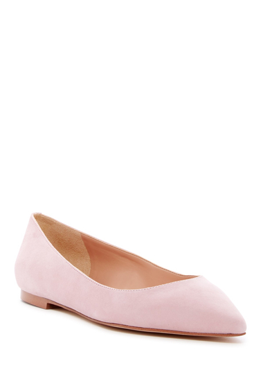 Incaltaminte Femei Sam Edelman Rae Pointed Toe Suede Flat LIGHT PINK