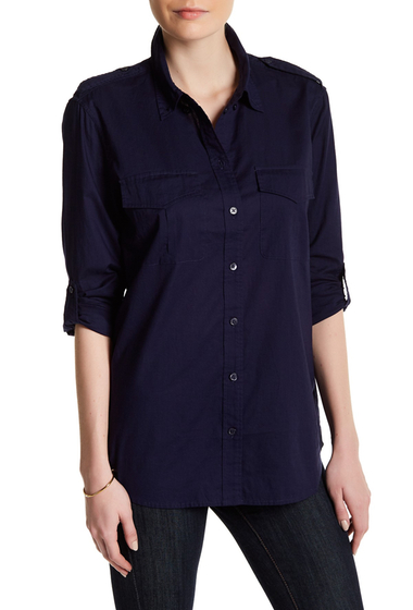 Imbracaminte Femei Equipment Major Button-Down Shirt PEACOAT