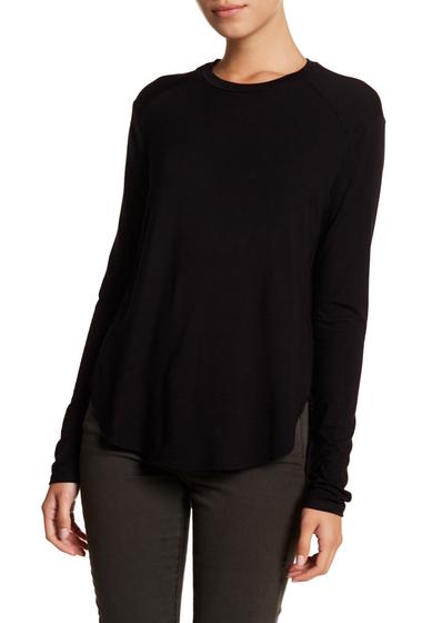 Imbracaminte Femei Melrose and Market Long Sleeve Hi-Lo Tee Regular Petite BLACK