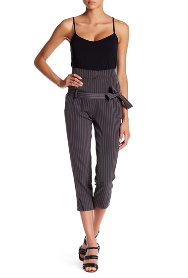 Imbracaminte Femei TOV Striped High Waisted Pants GRAY