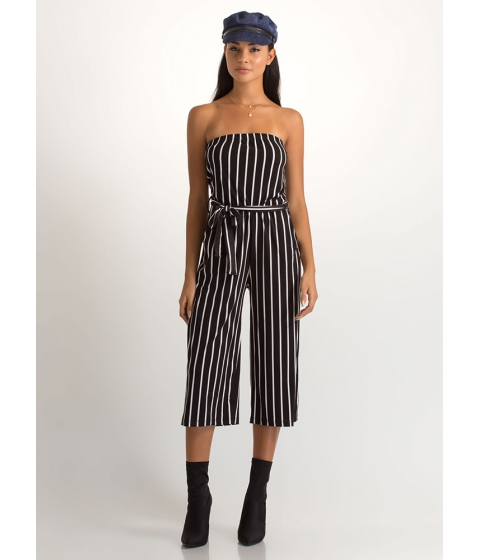 Imbracaminte Femei CheapChic Empire Stripes Back Palazzo Jumpsuit Blackwhite