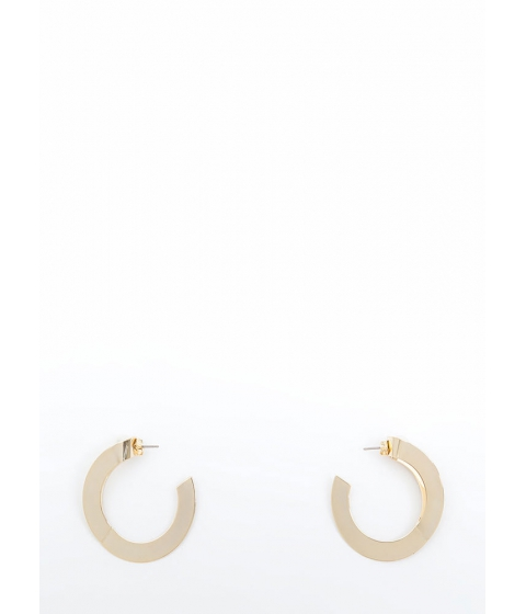 Bijuterii Femei CheapChic Peekaboo Pearls Partial Hoop Earrings Gold