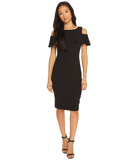 Imbracaminte Femei Calvin Klein Cold Shoulder Sheath Dress Black