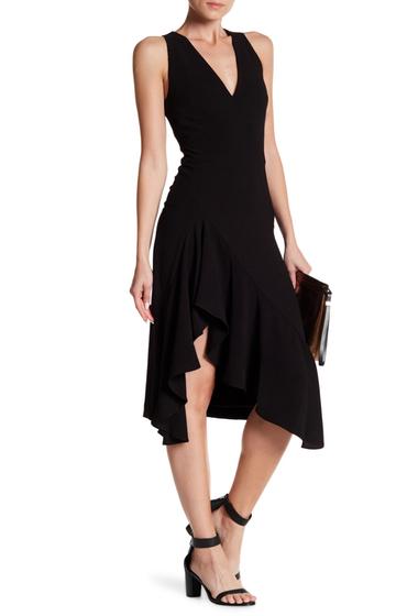Imbracaminte Femei Betsey Johnson Sleeveless Crepe Ruffle Dress BLACK